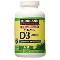 Витамин Д3 Kirkland 2000 IU, 600 капсул