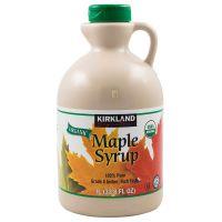 Кленовый сироп-органический Amber Maple Syrup Kirkland Signature, 1л
