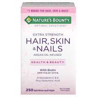 Витамины для волос, ногтей и кожи, Hair, Skin & Nails, Nature's Bounty, 250 капсул