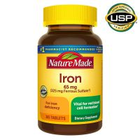 Залізо Железо Nature Made® Iron 65 mg., 365 таблеток